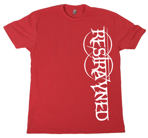 Image of Restrayned Going Down Logo T-Shirt (Red/White) LTD ED