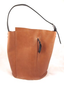 Image of caramel bucket tote