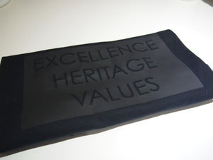 Image of EXCELLENCE - HERITAGE - VALUES TEE BLACK ON BLACK