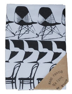 Image of Chair Stripe Tea Towel