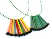 Image of Knitwit Tops Necklace - ONE LEFT