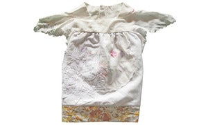 Image of Small white floral vintage suit 2 to 3 yeas tunic/ top