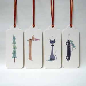 Image of Deluxe Set of 24 Assorted Christmas Tags