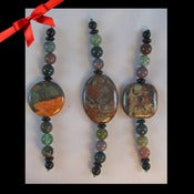 Image of Agate, Jasper & Onyx Meditation Talisman -- Reiki Charged