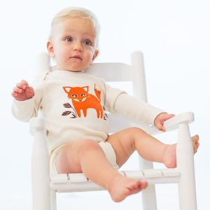 Image of Foxy Fox Long Sleeve Organic Onesie/Tee