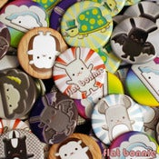 "Image of Flat Bonnie & Friends Buttons (1.25"")"