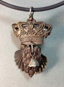 Image of Crown, Heart and Scallop Pendant