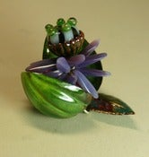 Image of Enameled Green Pod Pendant