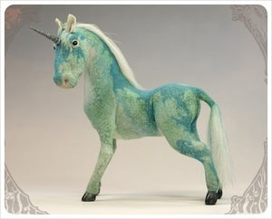 Image of SOLD! ~ Tiffany Blue Unicorn by the Filigree