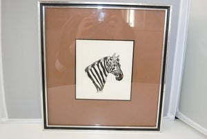 Image of Original Framed Zebra