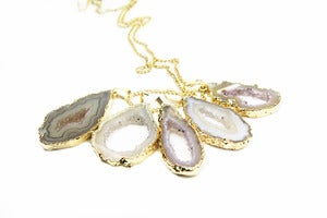 Image of NEW IN! CRYSTAL AVALANCHE Geode Single Slice Pendant