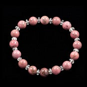 Image of Rhodonite & Clear Quartz Bracelet - Reiki Charged