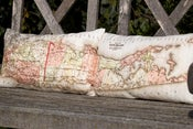 "Image of Vintage EAST + WEST LONG ISLAND Map Pillows, 12""x 20"""
