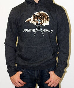Image of Guys | M-16 Wolf | Hoodie | Charcoal Heather Gray