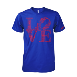 Image of Classic LOVE Tee (Blue/Red)