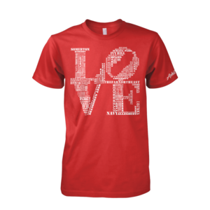 Image of Classic LOVE Tee (Red/White)