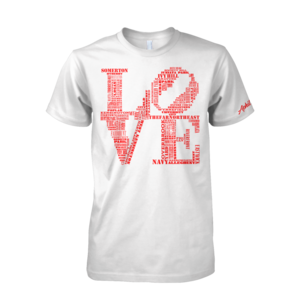 Image of Classic LOVE Tee (White/Red)