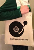 Image of Jive Time Canvas Record Tote