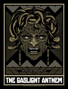 Image of The Gaslight Anthem - Washington, DC - Medusa Concert Poster
