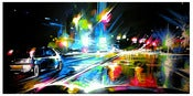 Image of 'Night City' - Original painting on canvas