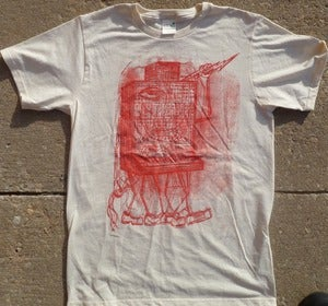 Image of Moog Monster Red on Natural Tee
