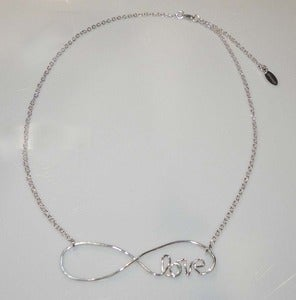 Image of Infinite Love Necklace in Sterling Silver