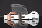 Image of Forgiato Double Sided Leather &quot;F&quot; Belt &amp; Buckle (White)