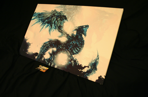 Image of Illuminated Canvas: Coldfire Dragon