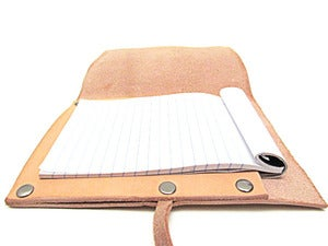 Image of Monogrammed Refillable Leather Notepad for Men