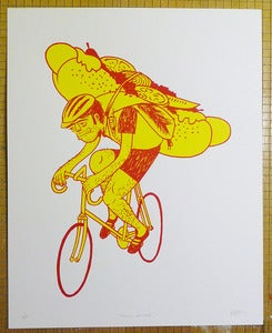 "Image of ""Special Delivery"" art print (yellow/red edition)"