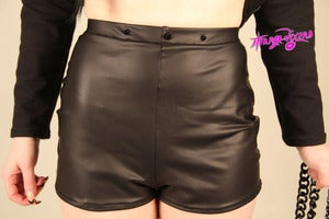 Image of Matte Heist High waist Shorts W/Spikes