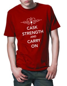 Image of Caskstrength And Carry On T-Shirt
