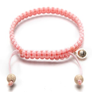 Image of Pink Silk Bracelet w/ Gold Laser Cut