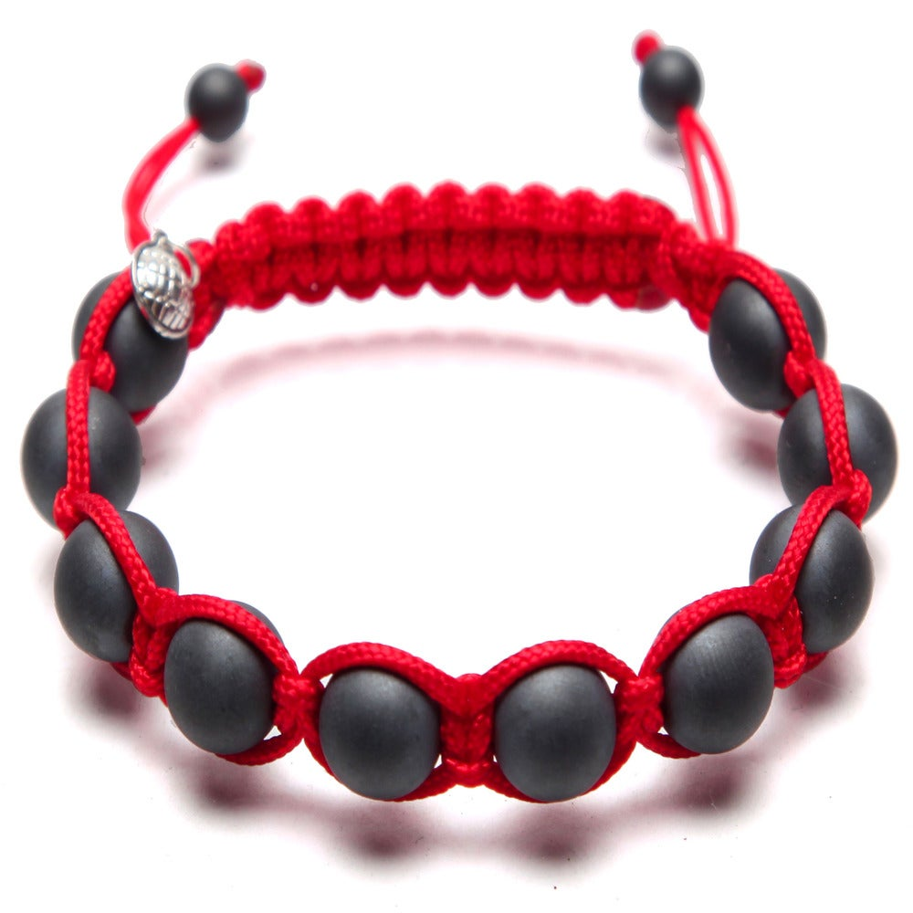 Image of Red Silk w/ Matte Hematite