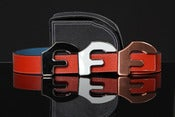 Image of Forgiato Double Sided Leather &quot;F&quot; Belt &amp; Buckle (Blood Orange)