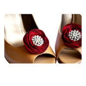 Image of Shoe Clips - Red and Crystals by Nia Person