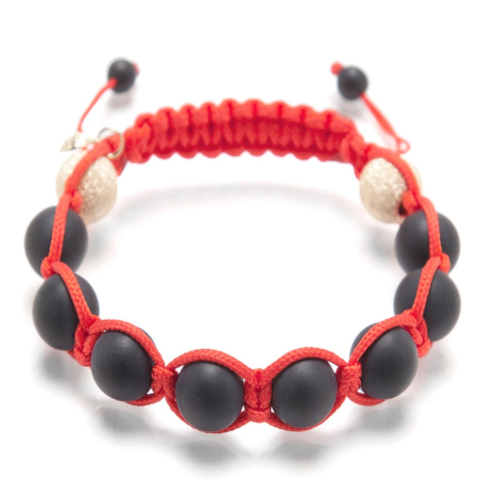 Image of Red Silk w/ Gold Laser Ends & Matte Onyx