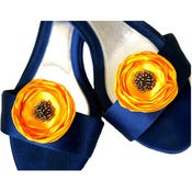 Image of Shoe Clips - Yellow and Gray