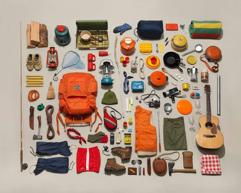 Image of Vintage Camping Gear Collection