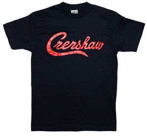 Image of Crenshaw T-Shirt (Navy/Red)
