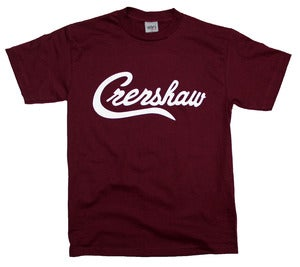 Image of Crenshaw T-Shirt (Burgundy/White)