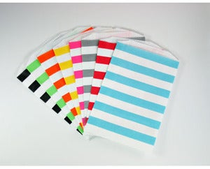 Image of Horizontal Stripe Paper Bags