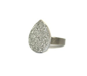 Image of Silver Druzy Ring (v15)