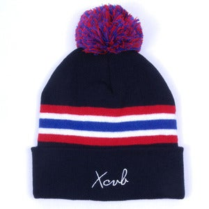 Image of XCVB - 2ONE2 Bobble Hat - Navy