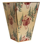 Image of Santa on Skis Wastebasket