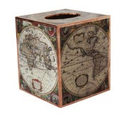 Image of Old World Map Tissue Box