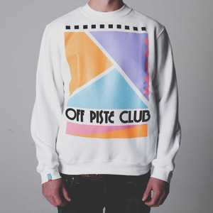 Image of Off Piste Club | White Sweatshirt