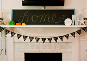 Image of Chalkboard Painted Pennant Banner