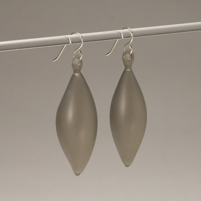 Image of FEATHER earrings/greys