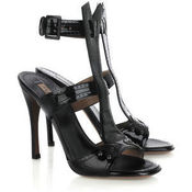 Image of Azzedine Alaia NEW in Box T Bar Patent Sandal SZ 38